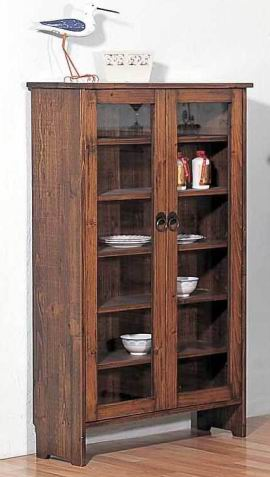 Solid Fir wood Cabinet combination in Antique natural finish