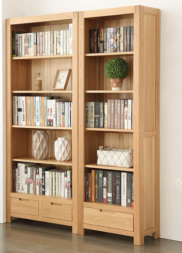 Nodic Solid Oak Bookcase