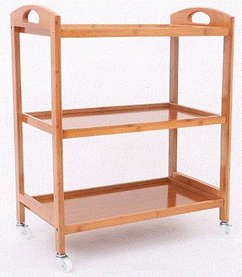 Kitchen Cart with Bamboo shelves