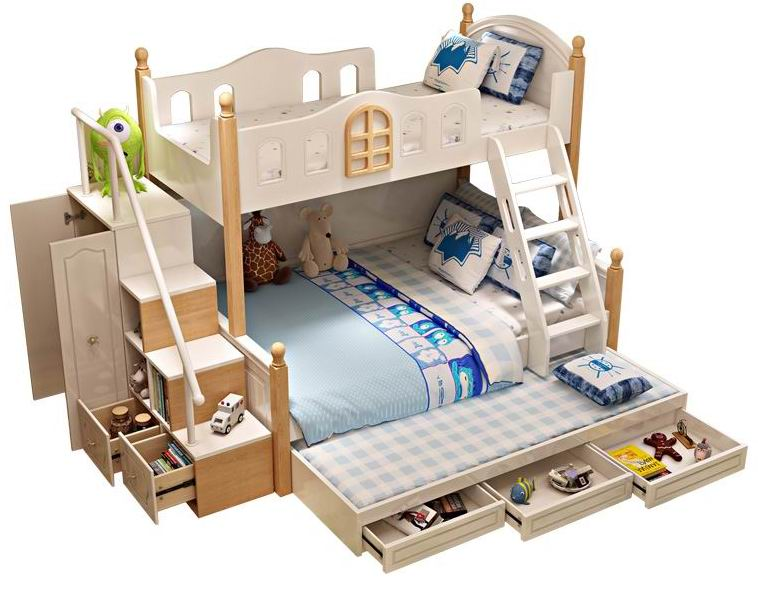 Nordic double house bunk beds