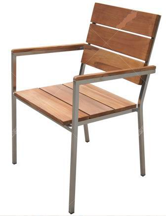 Outdoor Teak Stainless Steel Stacking Chair Lusty Home Limited