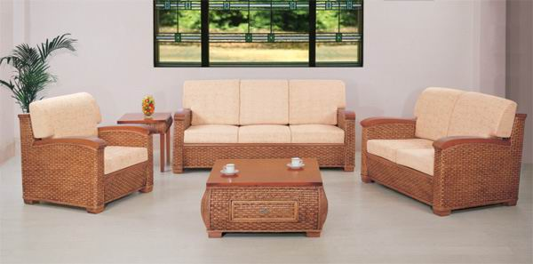 Rattan sofa living room five-piece combination