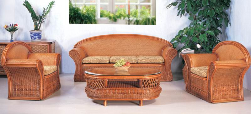 Rattan sofa living room six-piece combination