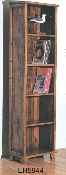 Solid Fir wood 5 layers Bookcase in Antique Finish
