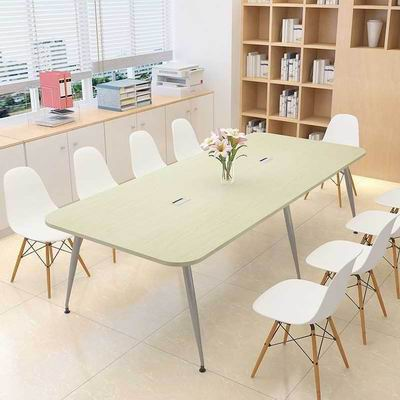 New Nordic style  Simple Meeting Table with Metal Legs