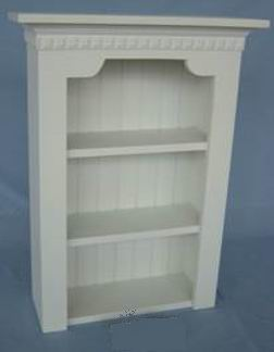 Antique White Wall Shelf With Grooved