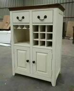 Antique White with Walnut Top Kitchen Cabinet in Nordic New Style