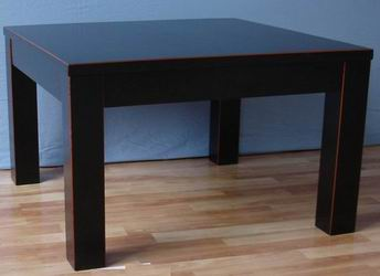 Faux Leather End Table Solid wood and MDF inside