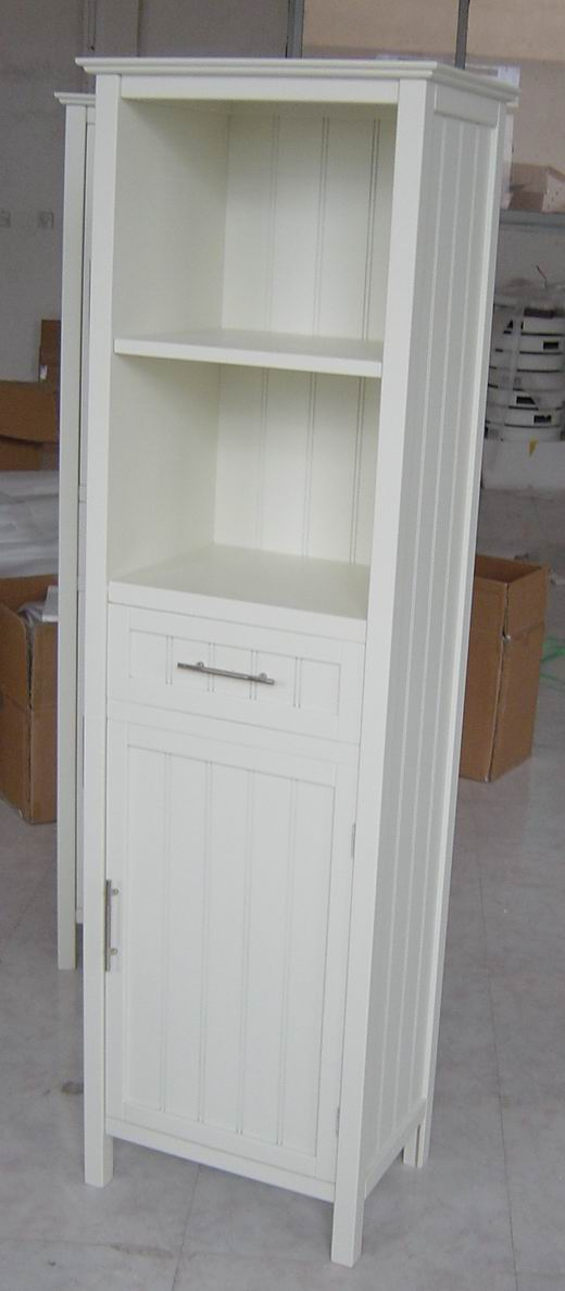 Tall Cabinet With One Grooved Doors And